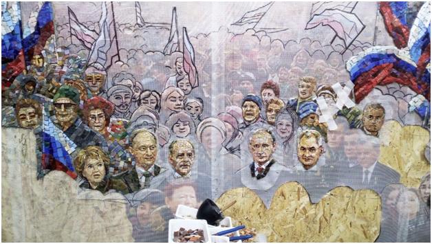 Из главного воинского храма России вынесли лики Сталина и Путина